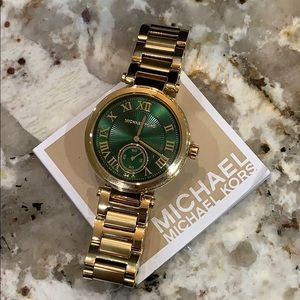Michael Kors Women's MK6065 emerald green watch